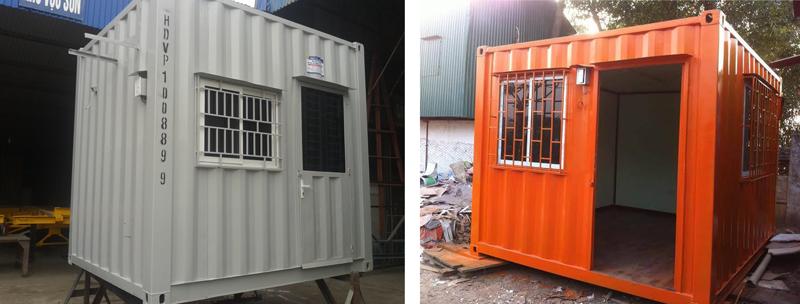 Container cũ 10 feet làm phòng bảo vệ