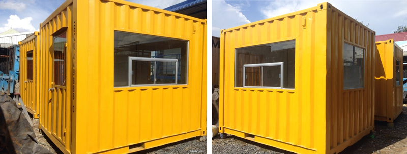 Container 10 ft cũ làm quầy bán hàng, quầy phát vé