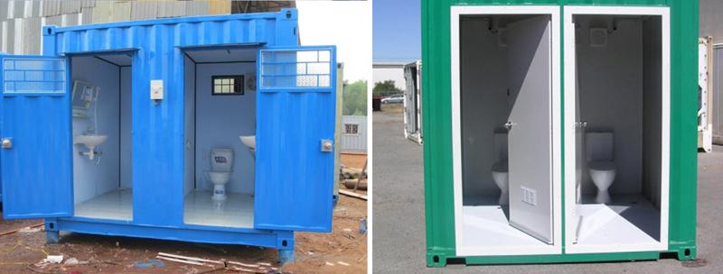 Container cũ 10 ft làm toilet công cộng