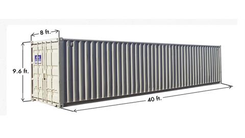 Kích thước container 40 feet high cube