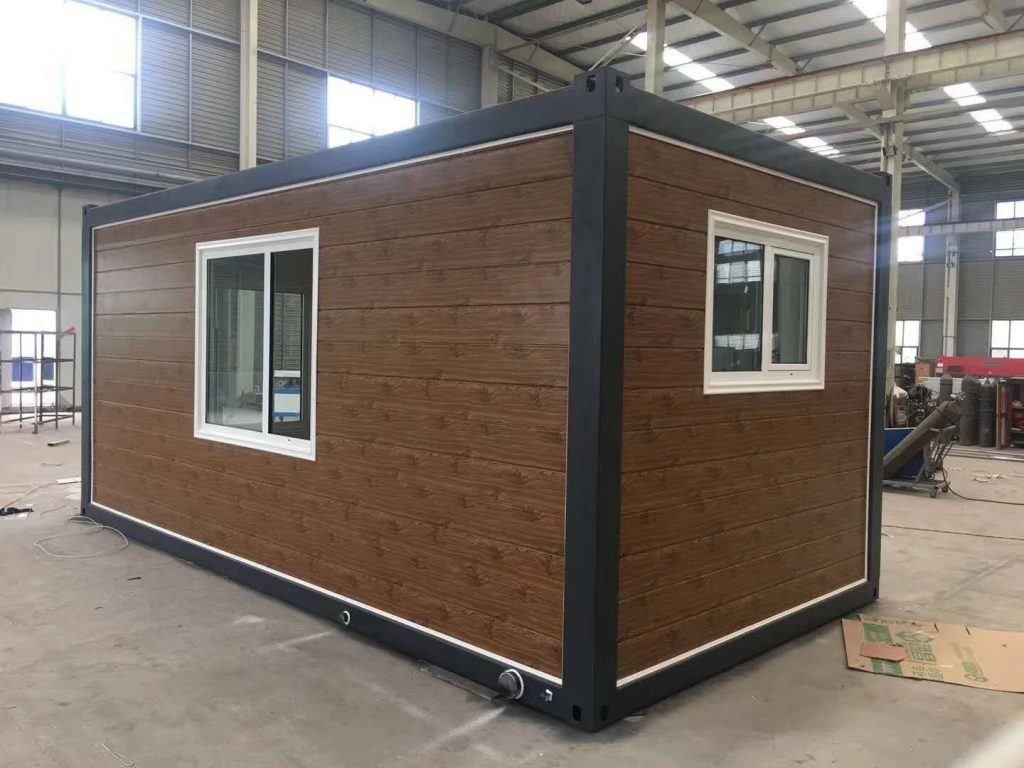 Nhà panel Container dán tường giả gỗ