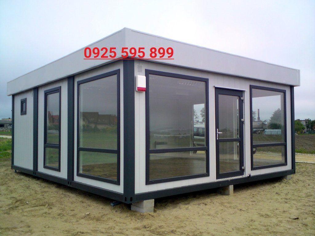 Nhà Panel Kính khung Container có mái chống thấm
