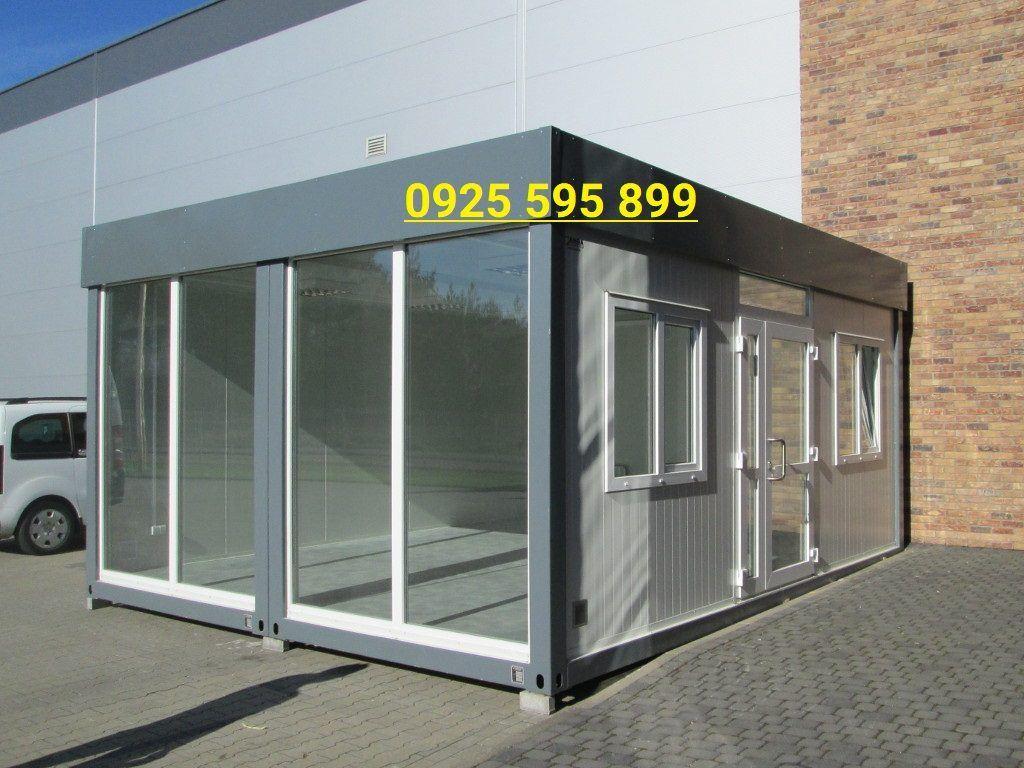 Nhà vách Panel và Kính từ khung 2 Container ghép