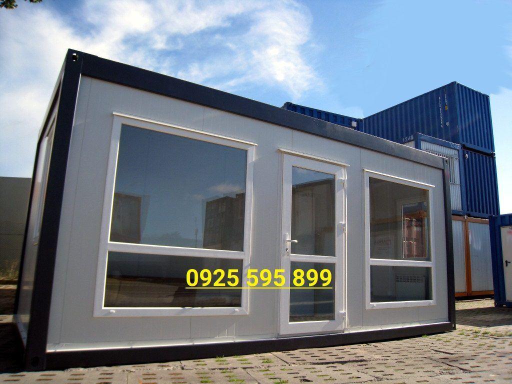 Nhà Vách Panel cửa kính từ khung Container
