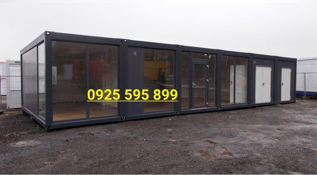 Nhà panel kính khung 5 container 20 feet ghép