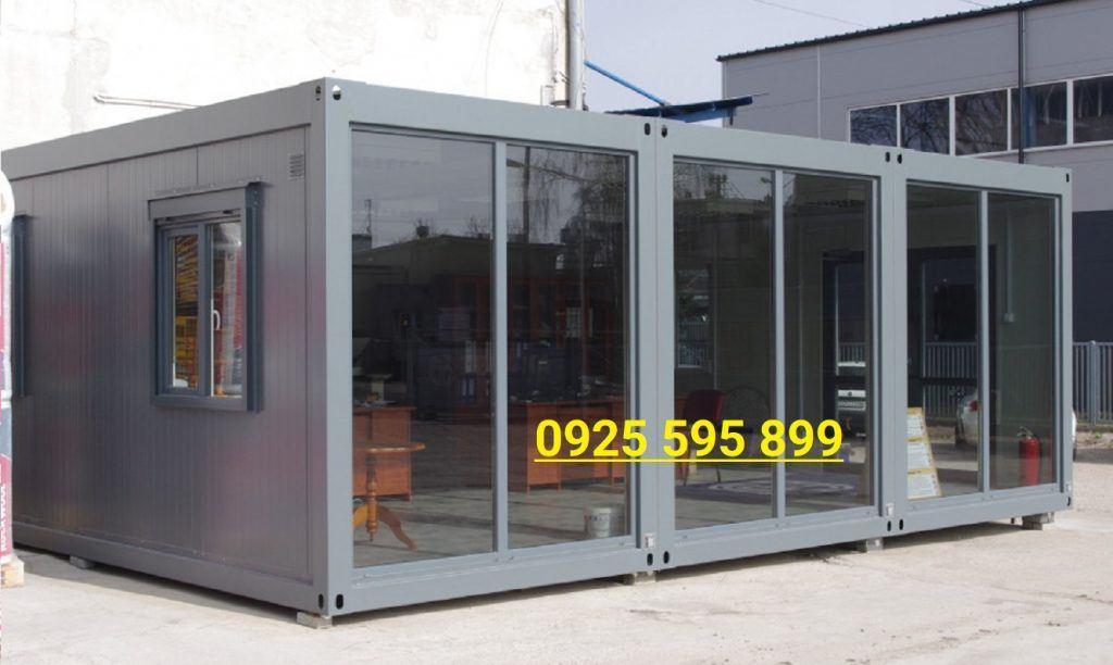 Nhà Panel khung Container ghép vách kính